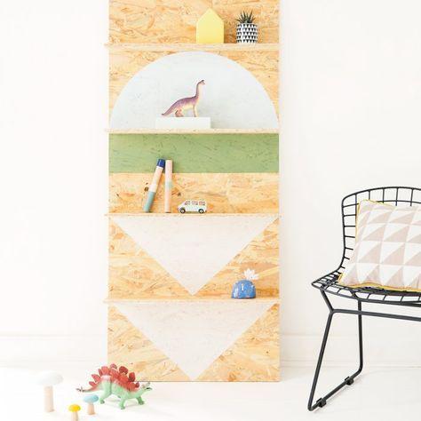 fabriquer une tag re en osb diy osb tag re et. Black Bedroom Furniture Sets. Home Design Ideas