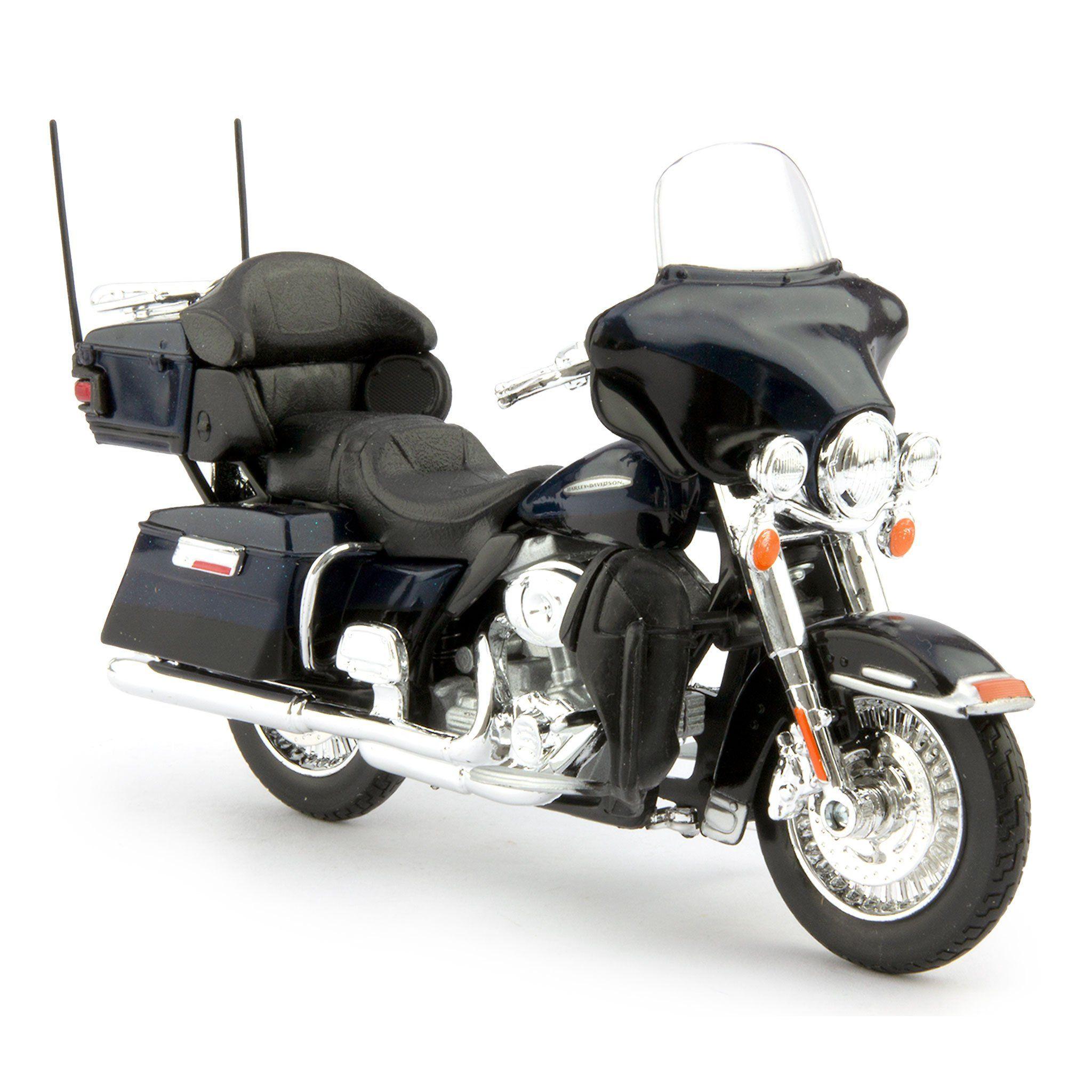 Harley-Davidson FLHTK Electra Glide Ultra Limited Diecast Model Motorcycle 2013 blue - 1:18 scale