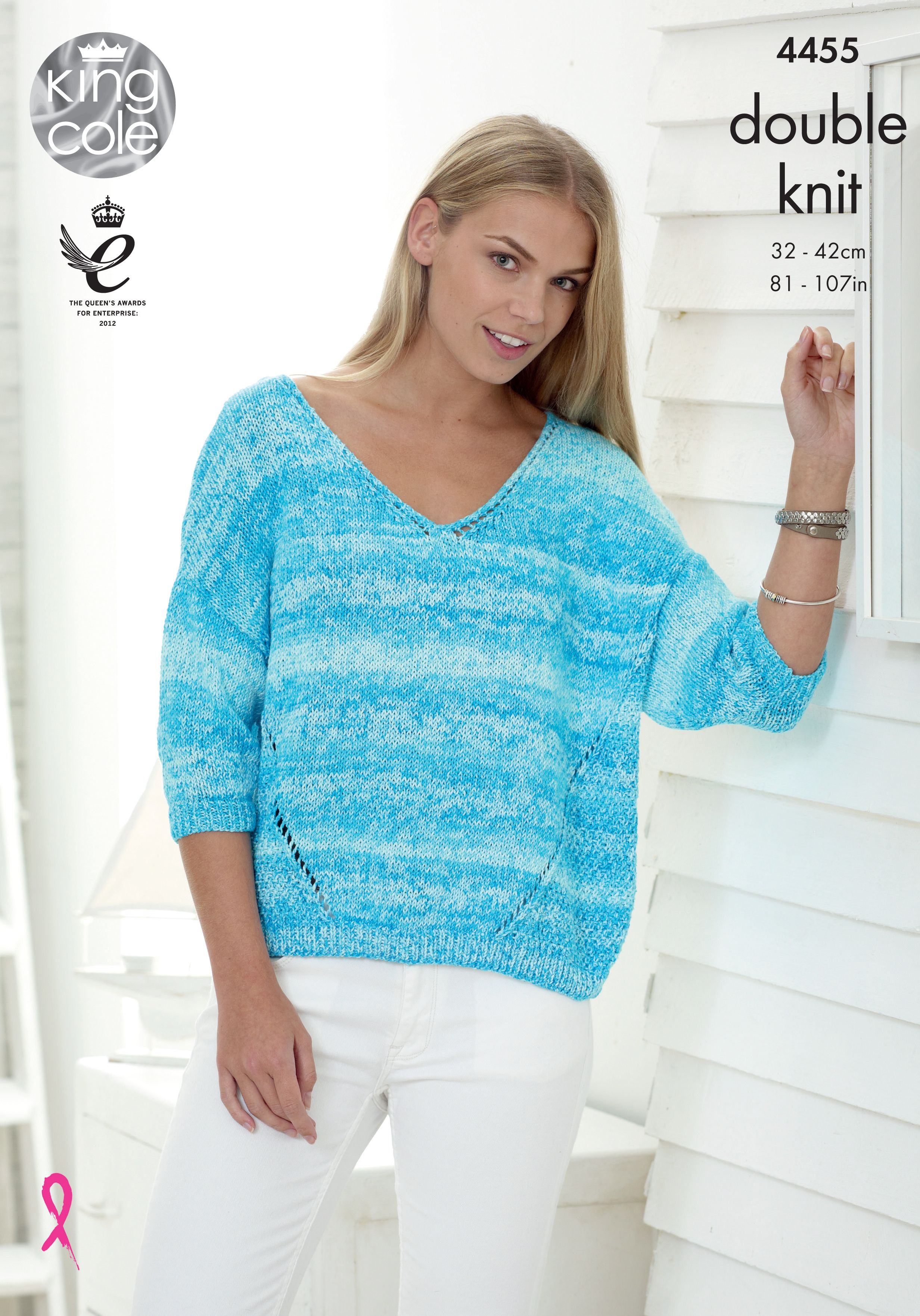 859e7d267f178e Ladies Sweaters - King Cole Pattern 4455