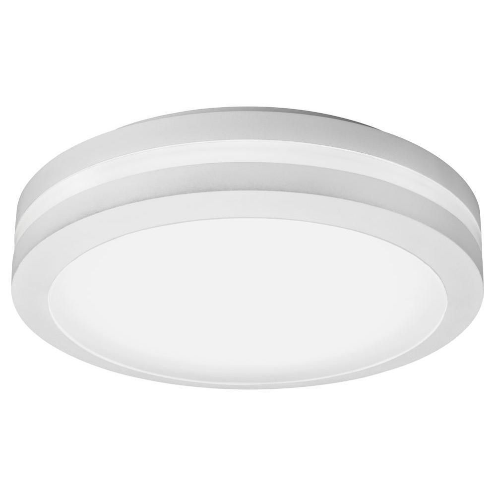 Lithonia Lighting White Outdoor Integrated Led Decorative Flush Mount