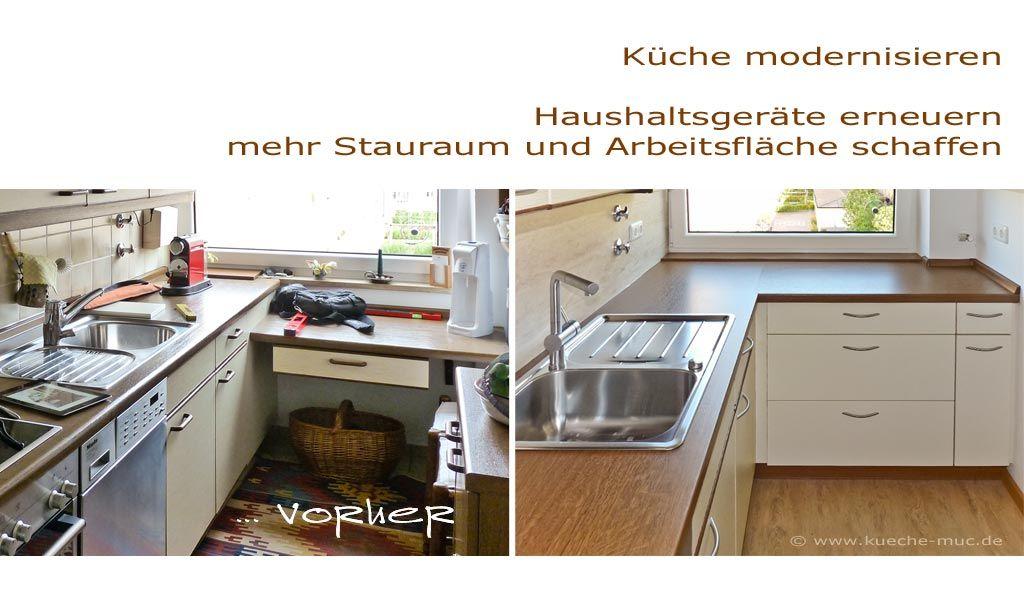 Wir renovieren Ihre Küche : Arbeitsflaeche der Kueche erweitern