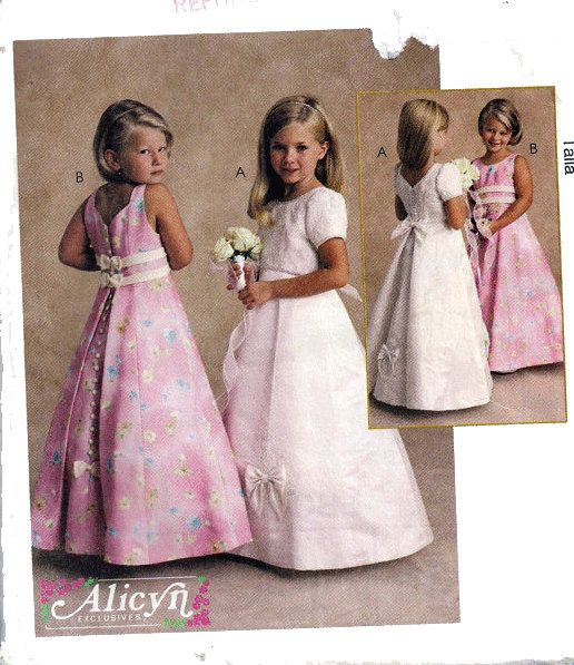 Toddler and Girl\'s Sewing Pattern FORMAL DRESS Flower Girl Pageant ...