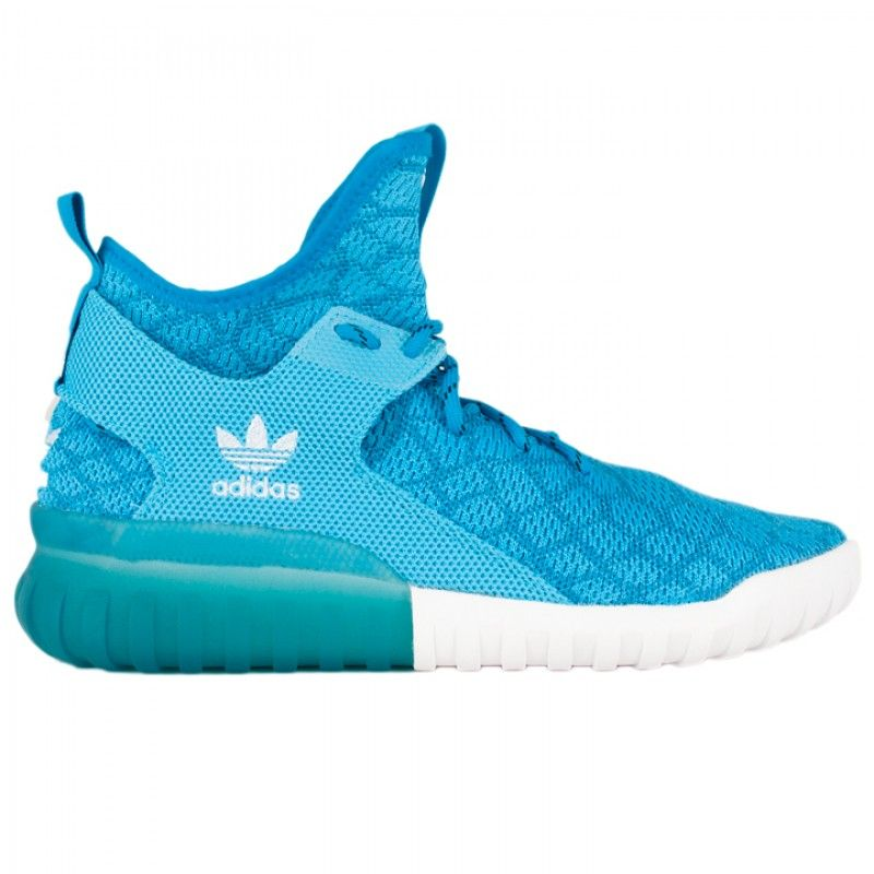 The Adidas Tubular X Primeknit in blue is out and