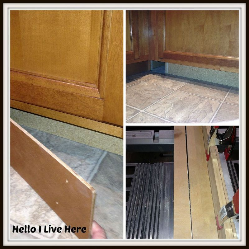 under cabinet drawers, diy, how to, kitchen cabinets, kitchen design, woodworking projects, Removing toe kicks under cabinets to get project started