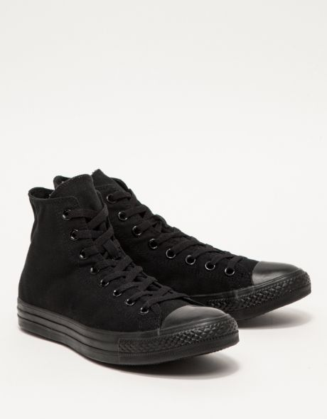 77aa84607c5a Chuck Taylor High Black Mono. Chuck Taylor High Black Mono Mens High Top  Shoes ...