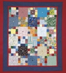 Scrappy Button Patchwork Quilt