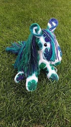 Afrikanische Blume ausgestopften Tieren Pony von TheTangledGiraffe ...