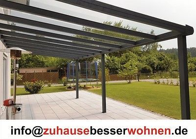 alu terrassendach carport aluminium terrassen berdachung veranda vsg glas 7x4m pergole i. Black Bedroom Furniture Sets. Home Design Ideas