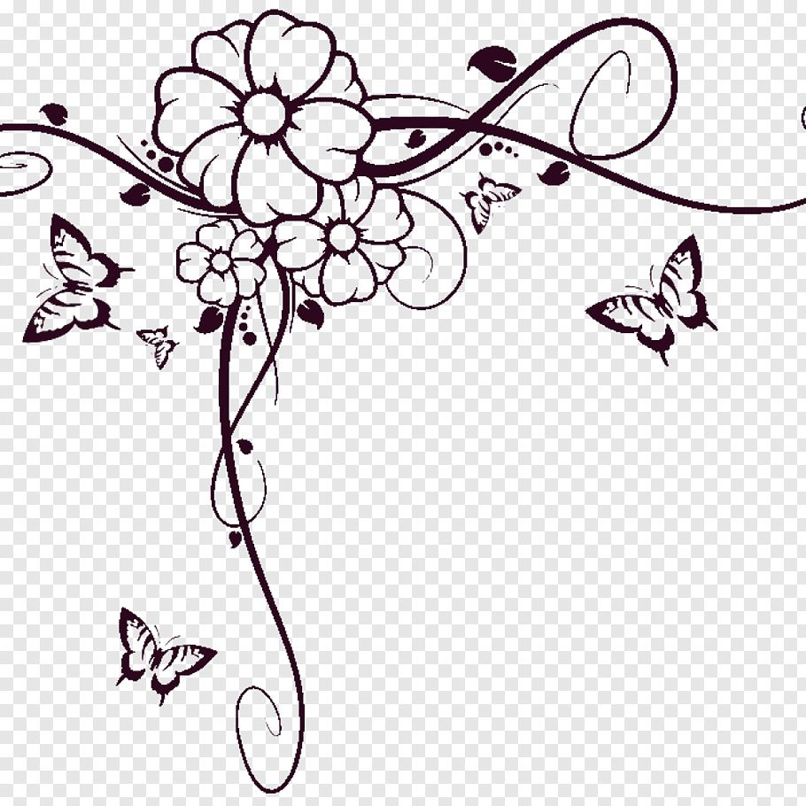 Flower Border Clipart Black And White Ideas Flower Border Clipart Clip Art Borders Clipart Black And White