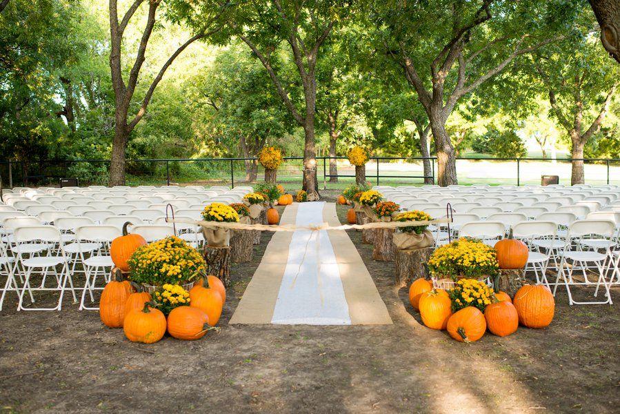 Burlap Runners, Orange Flowers And