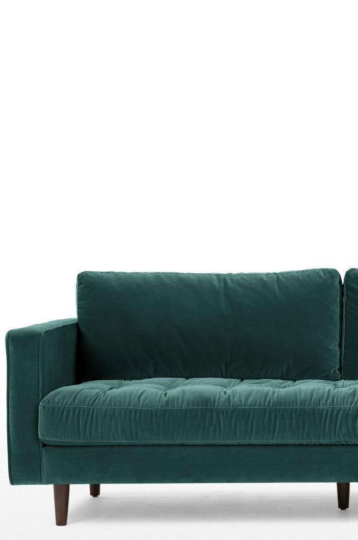 Scott 3 Sitzer Sofa Petrolgruner Baumwollsamt Zum Relaxen Geschaffen Der Sitz Ist Mit Sprungfedern Und Federn Gepolstert U 3 Sitzer Sofa Baumwollsamt Design