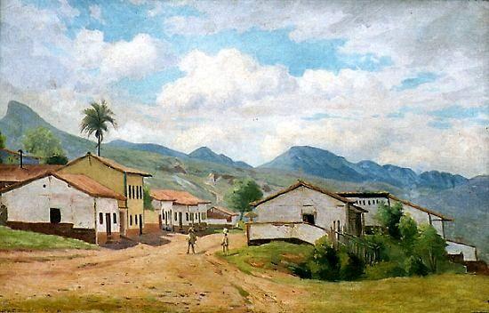 Caron (1891), Paisagem com casa em vilarejo