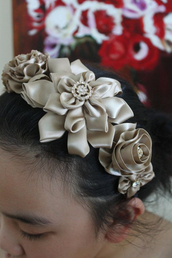 Gorgeous Ribbon Flower headband or use a corsage