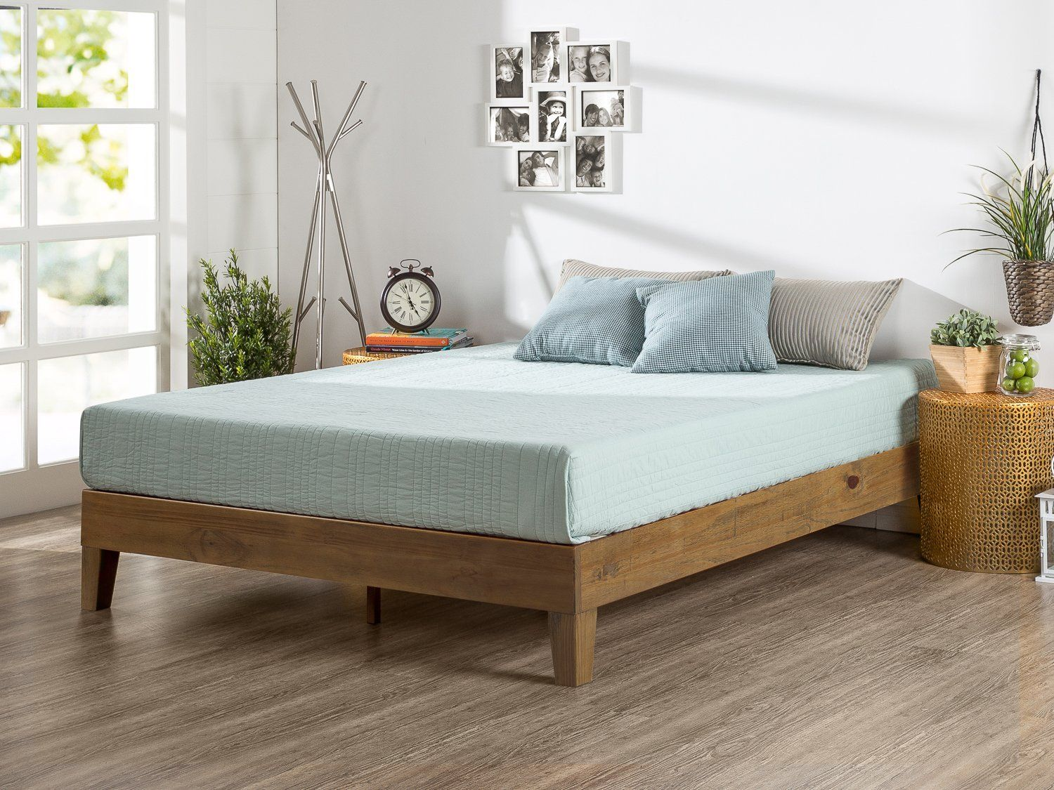 Amazon.com: Zinus 12 Inch Deluxe Wood Platform Bed / No Boxspring ...