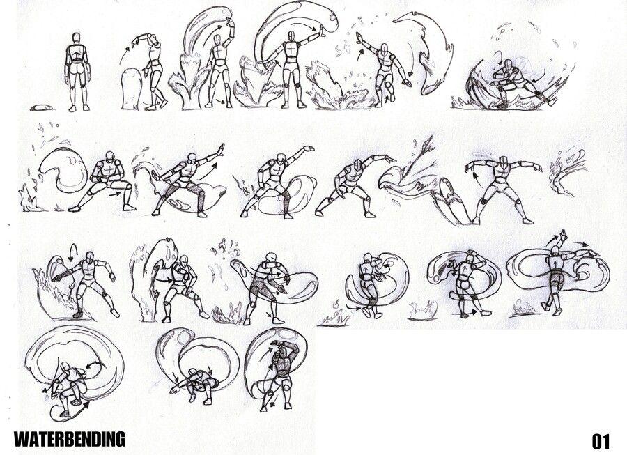 Resultado de imagen de taichi agua movimientos | Manga drawing ...