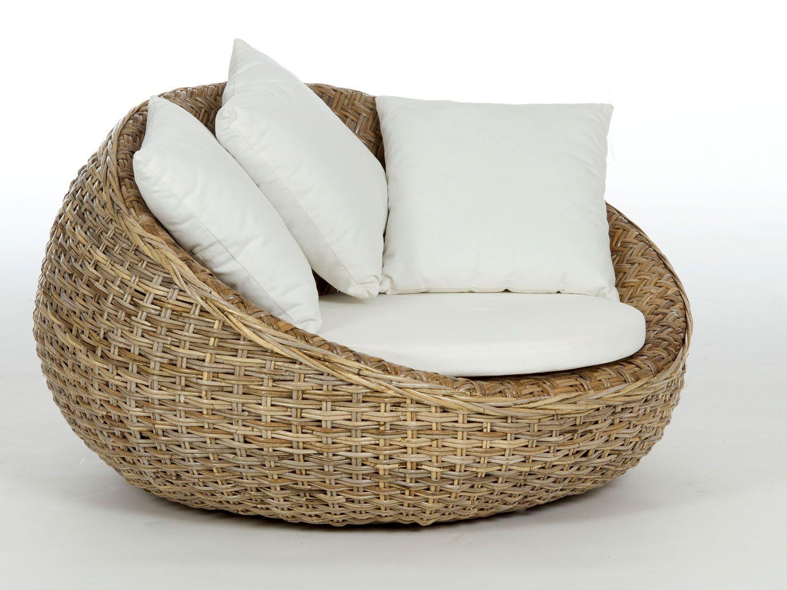 Sessel Rundsofa Tonacu Aus Rattan Round Sofa Outdoor Furniture Decor Rattan Furniture