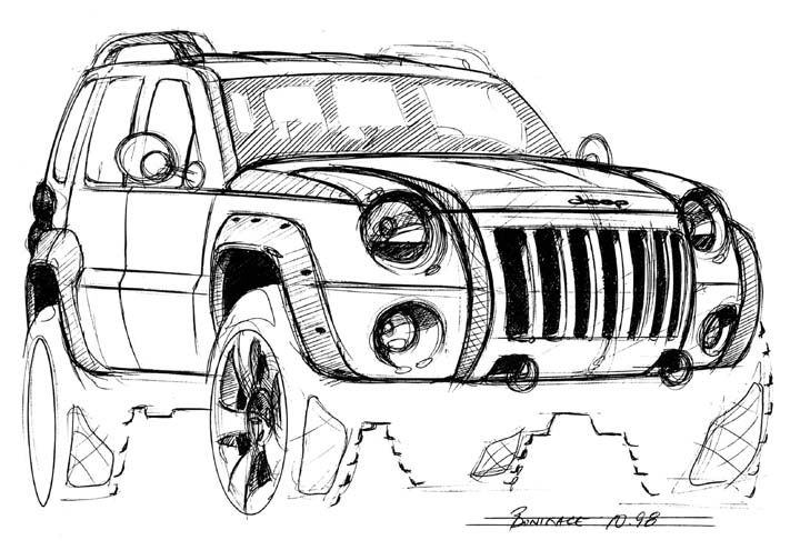 jeep concept vehicle for the jeep coloring book