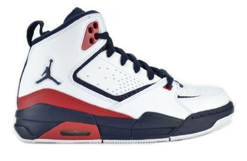 Jordan SC- 2 (GS) Big Kids Basketball Sneakers White / Obsidian - Gym