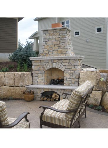 Outdoor Fireplaces Twin City Fireplace Stone Co Build