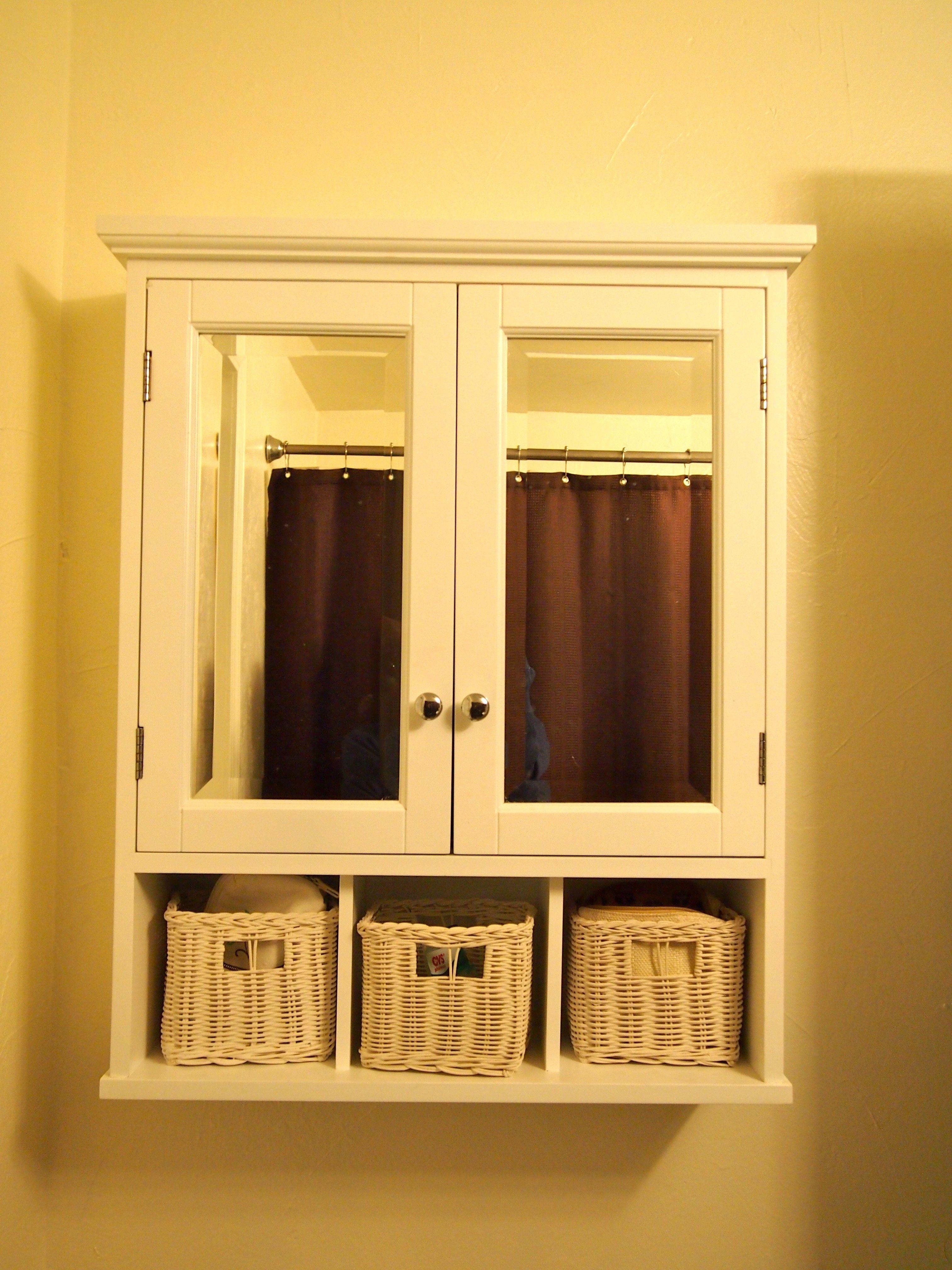White Wood Wall Storage Cabinet | http://divulgamaisweb.com ...