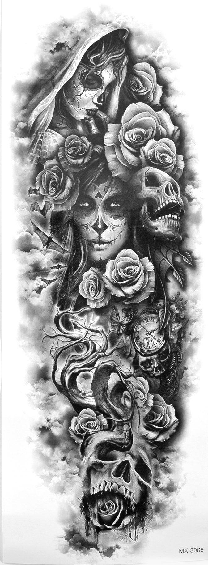 "Photo of ""Dame Of Darkness"" Kinder Temp Full Arm / Bein Sleeve Tattoo ##tattoo #darkness …"