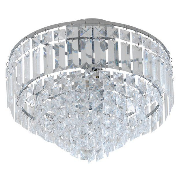 Collection Olivia 3 Light Ceiling Ing Clear