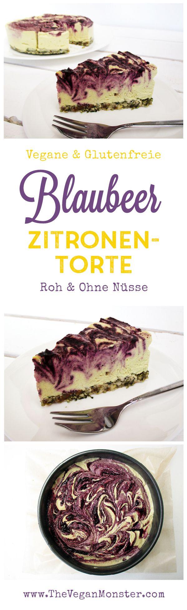 Nix Backen Vegane Glutenfreie Zitronen Blaubeer Torte Ohne Zucker