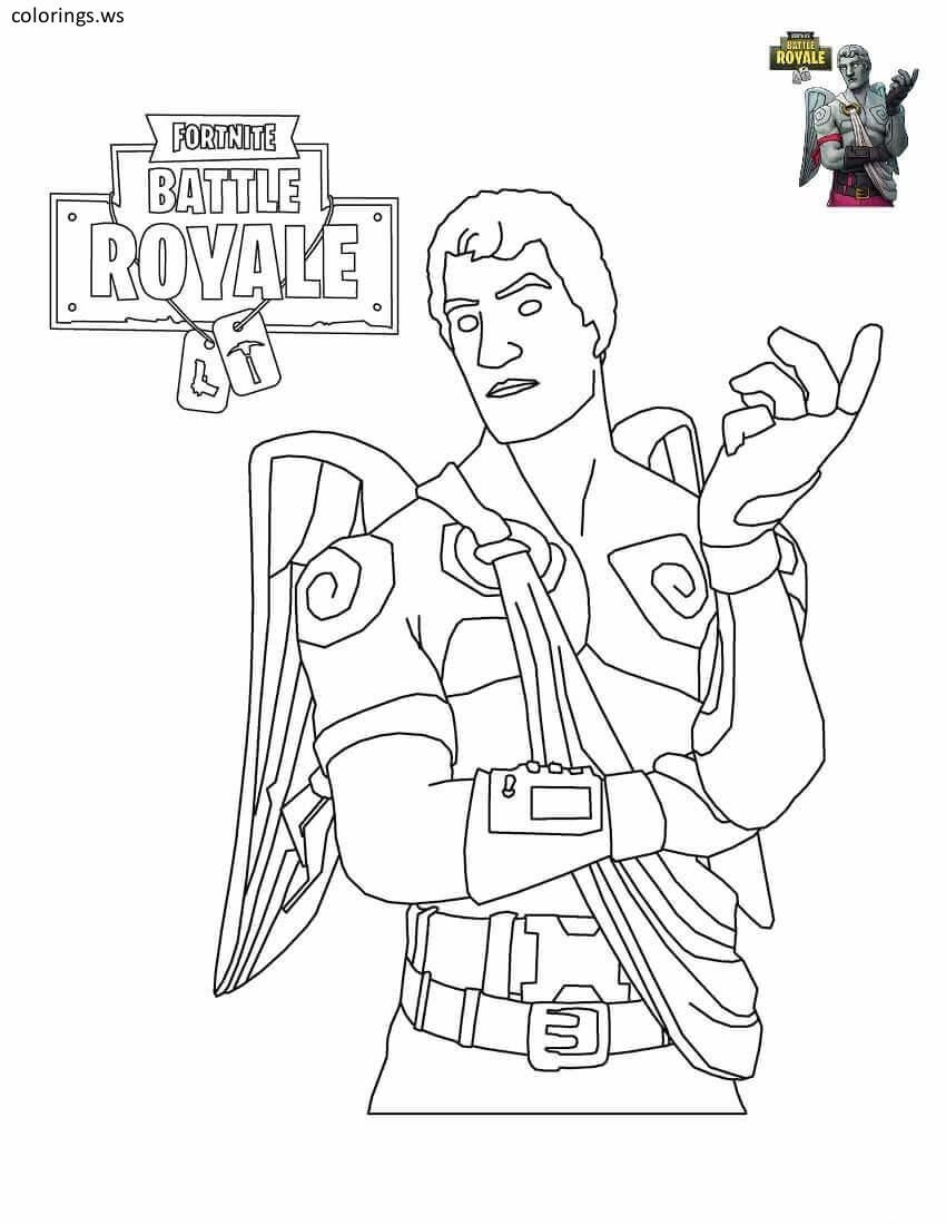 Fortnite Coloring Pages For Teenagers Kids Pinterest Coloring