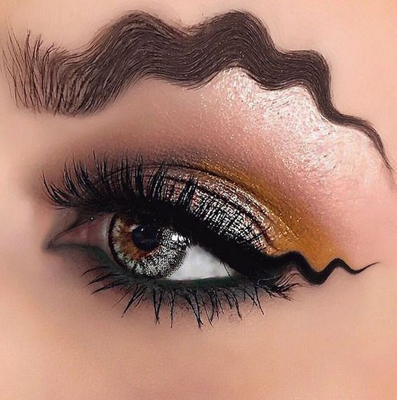 Wavy eyebrows idea   Makeup, Eye makeup, Best eyebrow products