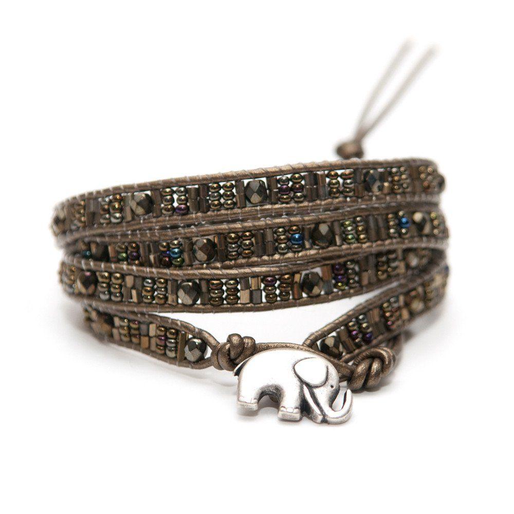 Sasa Designs Kenya Elephant Multi-Wrap Bracelet