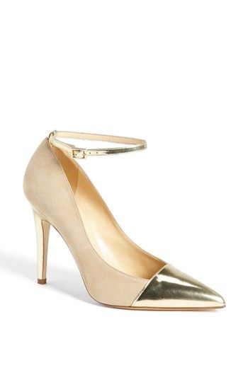 03ebe23fac4 kate spade nude suede and gold toe ankle strap  liza  pumps  40% now during  Nordstrom s Half Yearly Sale!