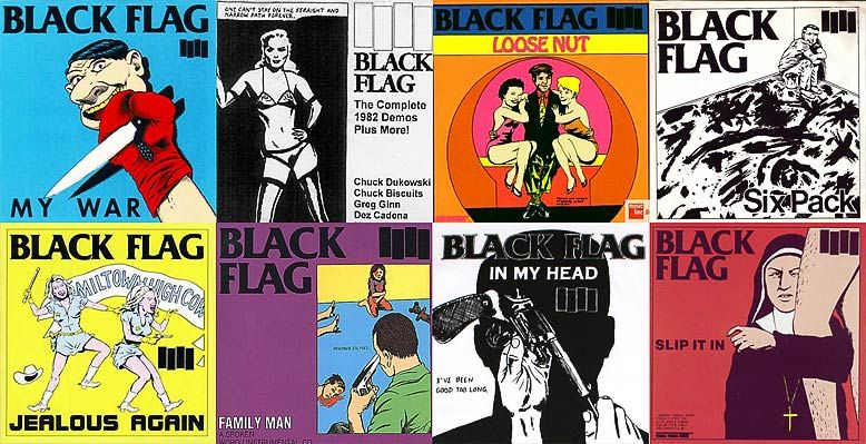 Raymond Pettinbon Black Flag Album Art And Band Logo I Find The Idea Behind The Diy Attitude Of Black Flag Inspiring Making Their Own Fliers And Album Art