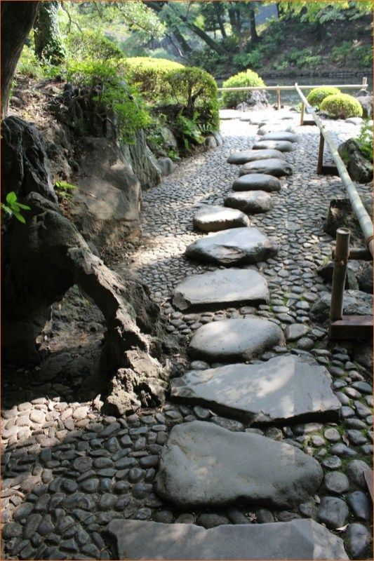 26 Awesome Japanese Stone Garden Pathway Ideas #japanesegardendesign