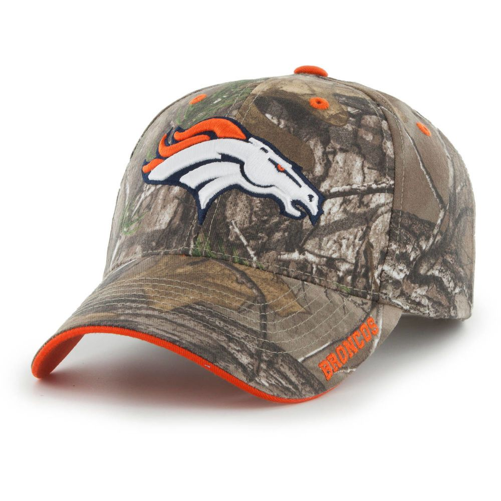 Denver Broncos Hat NFL RealTree Camo Adjustable Strapback Team Logo  Baseball Cap  RealTree  DenverBroncos a85b77a89263