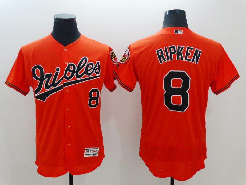 10ca5c096 Majestic Baltimore Orioles  8 Cal Ripken Jr Orange Flexbase Collection  Jersey