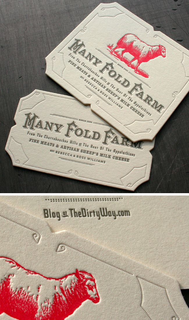 Ideas and inspiration for creating vintage business cards business the top 15 vintage business cards vintage style business card using an illustration for many fold farms foods printing by beast pieces reheart Gallery