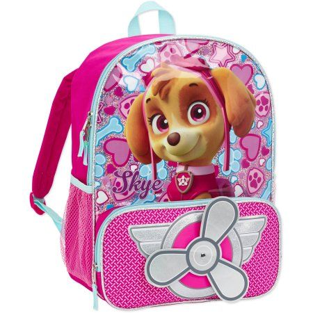 7065063616c2 Paw Patrol Fly Girl Kids  Backpack