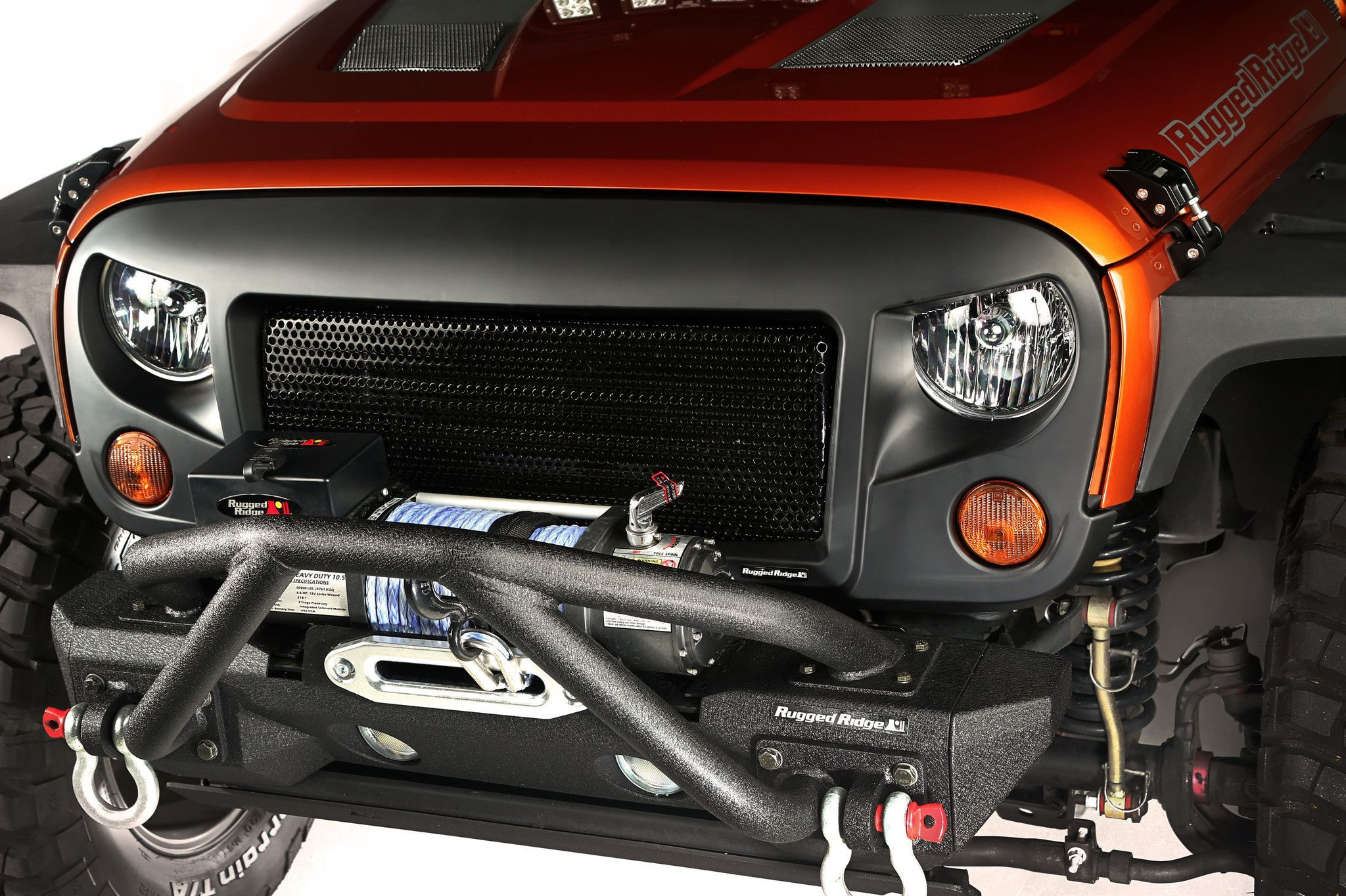 spartan angry eyes grille for 2007 2015 jeep wrangler rugged ridge [ 2048 x 1365 Pixel ]