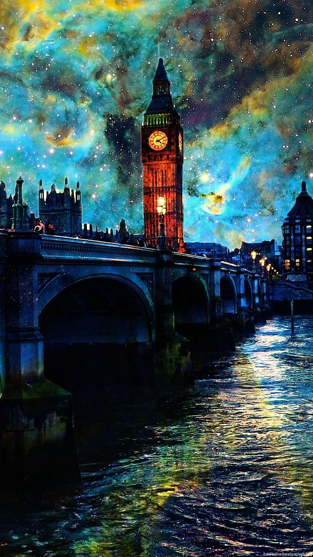 1080x1920 river night water clouds sky london iphone 6 - Wallpaper iphone 6 full hd ...