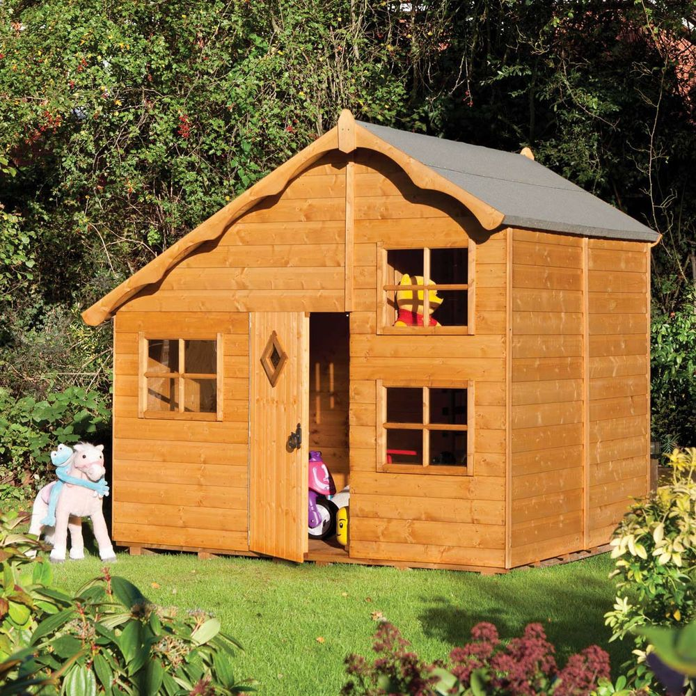 Diy catio plan the sanctuary catio plans with 6x8 and 8x10 options - Children Large Wood Playhouse Kids Garden Swiss Chalet Cottage House Outdoor Den Rowlinson Business Pinterest