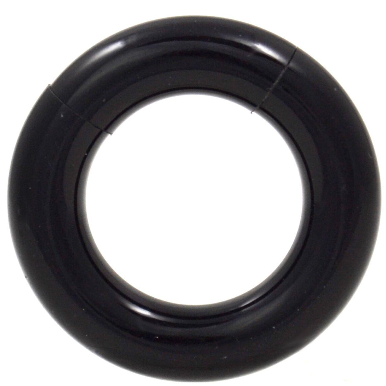 Pair All Black Acrylic Segment Ring Hoop 8g 0g Segment Rings Black Acrylics Black