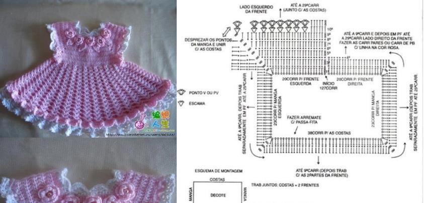 DE MIS MANOS TEJIDOS Y MAS...: Lindos vestidos para nenas a crochet ...