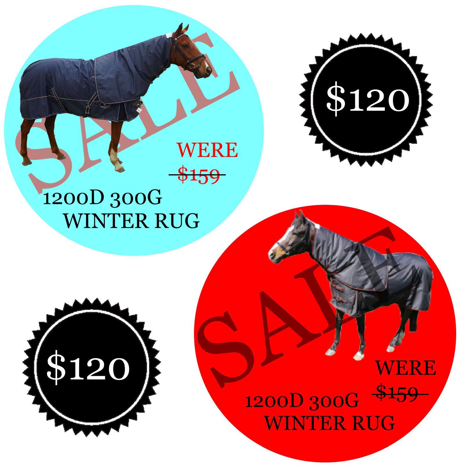 Winter Horse Rugs 1200d 300g Waterproof Turnout Paddock