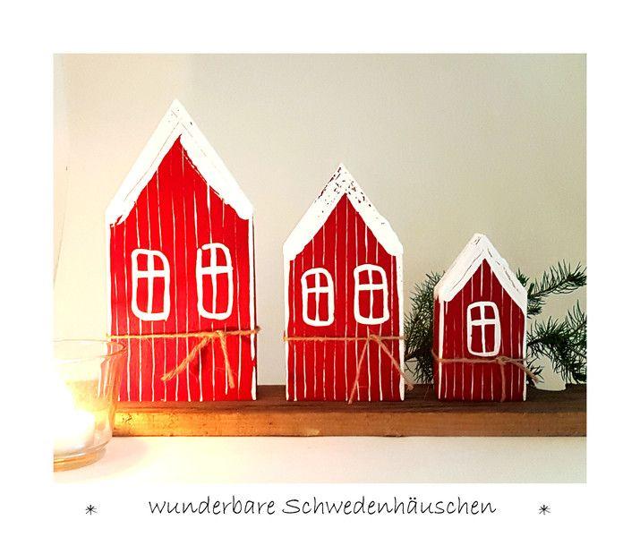 deko objekte 3 schweden h uschen holz skandinavisch. Black Bedroom Furniture Sets. Home Design Ideas