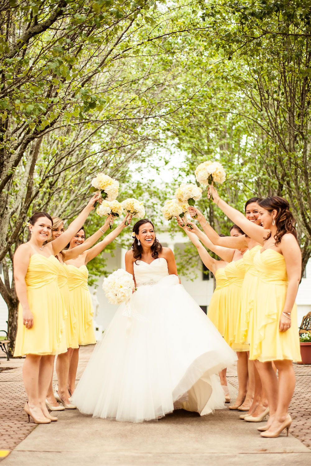 Yellow And White Bridal Party A Wedding Maybe Thats A
