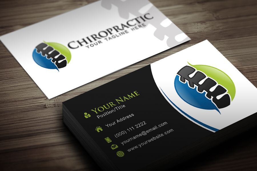 Chiropractic Business Card Template | Excel | Pinterest | Card ...