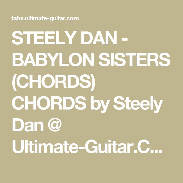 Steely Dan Babylon Sisters Chords Chords By Steely Dan