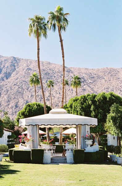 Sunny Highlights Of A Charming Palm Springs Wedding Chapel