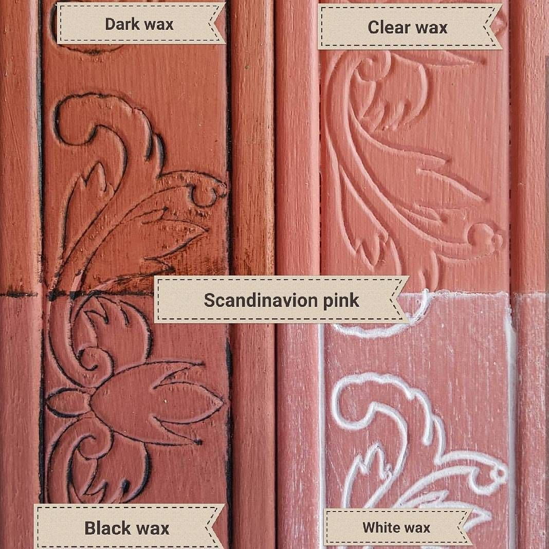 Chalk paint by annie sloan in scandinavian pink with several chalk
