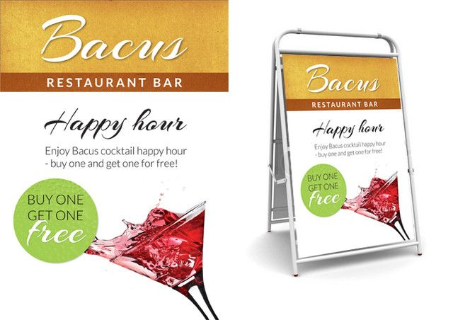 Happy hour - buy one get one free